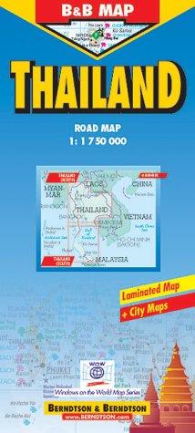 B & B Map, Thailand 1:1.75 Mio. Road Map.