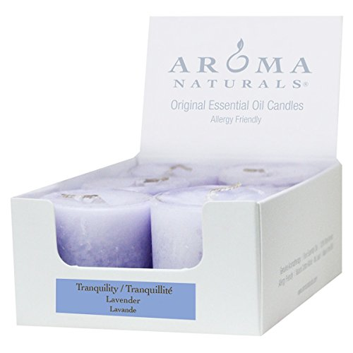 (Aroma Naturals Votive Candles with Lavender, Tranquility, 6 Count )