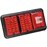 Bargman Triple LED Red #86 Taillight Red With Incandescent Back Up 48-84-009