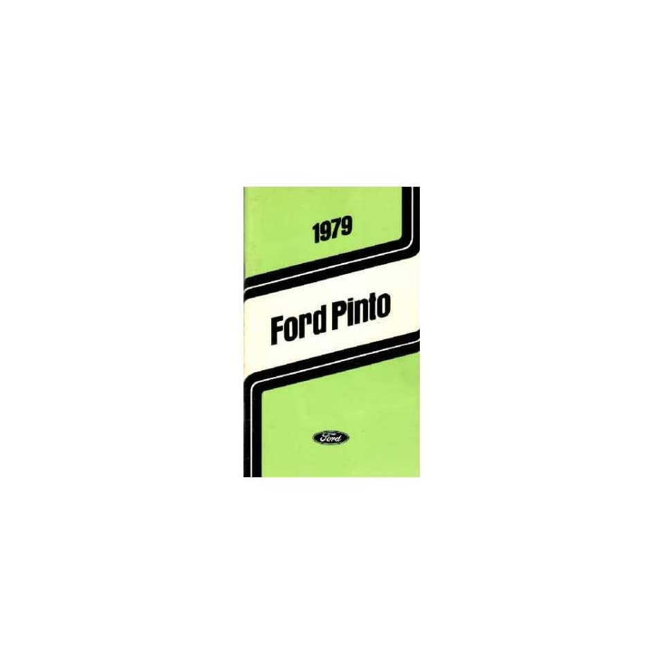 1979 Ford Pinto Owners Manual User Guide Reference Operator Book Fuses Fluids
