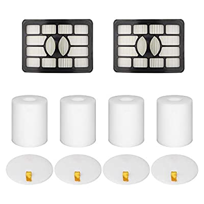 Wolf Filter 2 + 4 Pack Vacuum Filters Replacement Compatible for Shark Rotator Pro Lift-Away NV500, NV501, NV502, NV503, NV505, NV510, NV520, NV552, UV560, Xff500 Xhf500 (Not Fit NV650,NV750 Series)