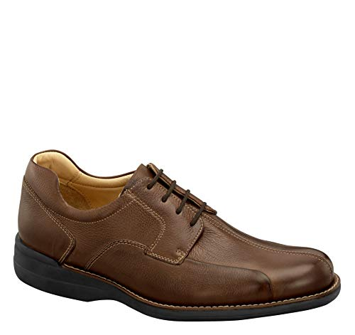 Johnston & Murphy Men's Shuler Bicycle Dark Brown Tumbled Calf 10 M US from Johnston & Murphy