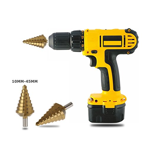 Single Mom 10-45MM high-speed Steel Large Step Cone Titanium Coated Metal Drill Bit Cut Tool Set Hole Cutter by Single Mom