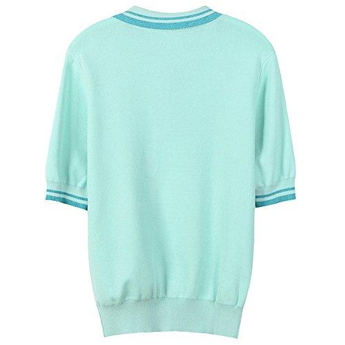 Allentare Donna Striped A Primavera T shirt L'estate Per Corta Floreale Il Blu Look I Xmy E Manica 6wtqqHv