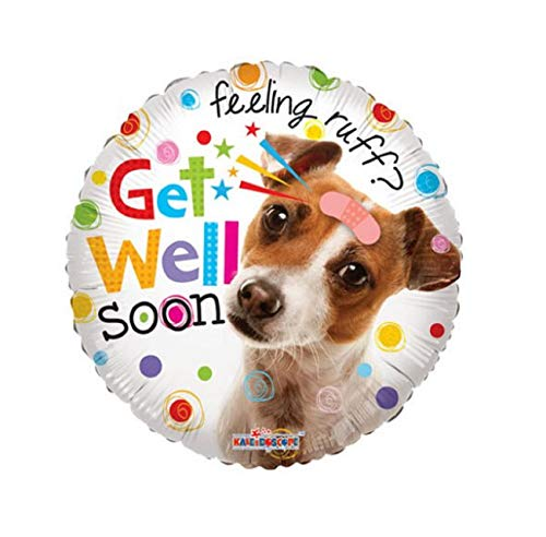 - Get Well Soon Balloon with Dog - Feel Better Gift Cute Sweet
