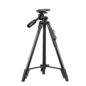 YunTeng VCT-5208 43cm Tripod For Mobile Phone, DSLR And Sports Camera (black)