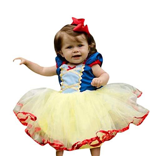 Little Girls Flower Princess Dress, REYO Newborn Baby Girl Lovely Lace Party Vintage Vestidos Princess Tulle Tutu Dresses ()