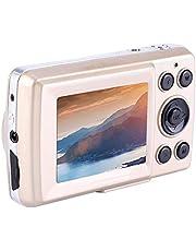 Tangxi Mini Fotocamera Digitale, HD 16MP Videocamera Digitale con Zoom 4X, 720P 30FPS Videocamera di Alta Definizione per Adulti/Anziani/Bambini(Oro)