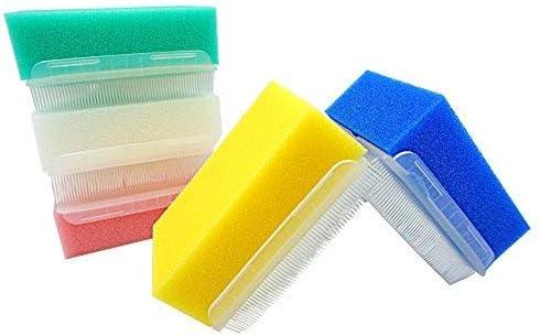 MUNKCARE OT Sensory Brush- Sensory Processing Disorder and Autism Therapressure Therapy Brush Sponge Brush Surgical Hands Scrub Bristle Brushes 5 Colors (Box of 5)