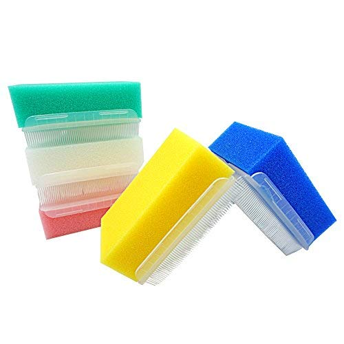 MUNKCARE OT Sensory Brush- Sensory Processing Disorder and Autism Therapressure Therapy Brush Sponge Brush Surgical Hands Scrub Bristle Brushes 5 Colors (Box of 5)