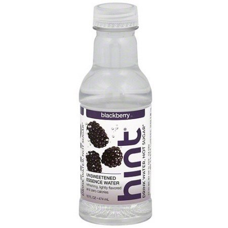 Hint Unsweetened Essence Blackberry Water, 16 oz (Pack of 60) by Hint