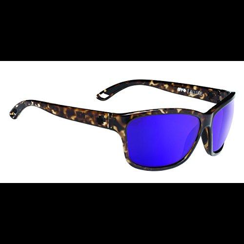 Spy Optic  Allure 673249888366 Wrap Sunglasses, 63 mm (Smoke Tort Happy Bronze & Purple - Sunglasses Enhancing Color