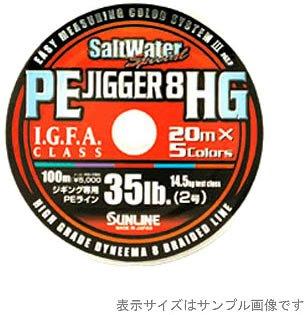 サンライン(SUNLINE) PEライン ソルトウォータースペシャル PEジガー8 HG 300m 4号 5色分けの商品画像