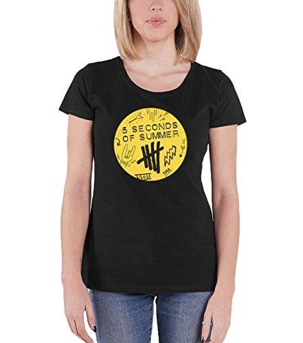 Officiel Summer T Nouveau Fit Of Seconds Femme Logo Scribble Shirt Skinny 5 Noir 014nxAw