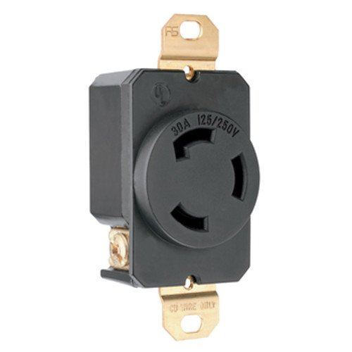 Legrand-Pass & Seymour 3330 Pass and Seymour 3330-G-R Single 30A 125/250V (Pass & Seymour Compact Outlet)
