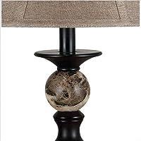 Kenroy Home - Lámpara de mesa Plymouth 20630ORB, Altura de 32 pulgadas, Diámetro de 17 pulgadas, Acabado en bronce frotado con aceite y detalles en mármol