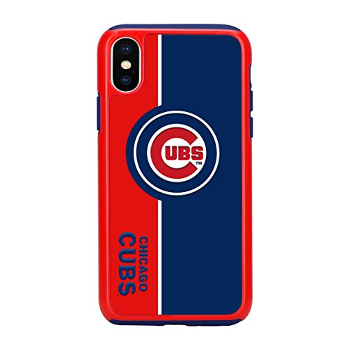 Forever Collectibles iPhone X Dual Hybrid Bold Case - MLB Chicago Cubs ()