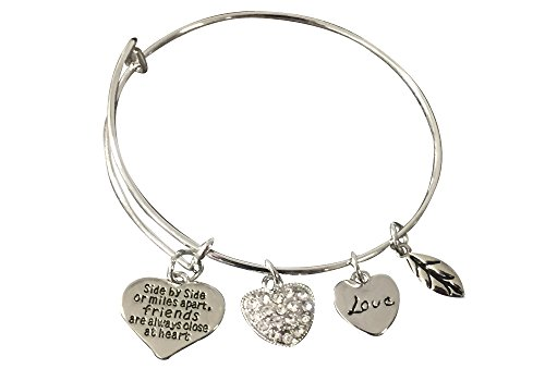 Infinity Collection Best Friends Bracelet-Side By Side or Miles Apart Friends are Close at Heart- Friend Jewelry for Friends