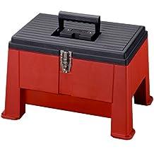 Stack-On SSR-20 Step 'N Stor Step Stool, Black/Red