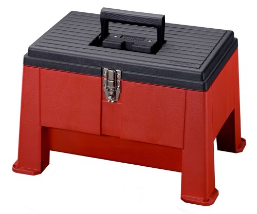 Price comparison product image Stack-On SSR-20 Step 'N Stor Step Stool, Black/Red