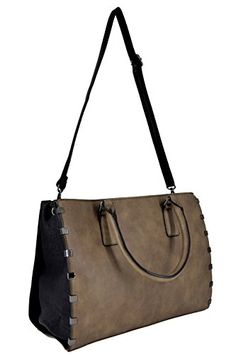 Sac Format Noir Femme Cuir Lycéenne Large Etudiante Main A4 à Cabas Fourre Taille Capacité Business Taupe Travail Tout Cours CRAZYCHIC Shopping Tote Document Fille Sac Porte Marron Grande Cartable PTqtwHF
