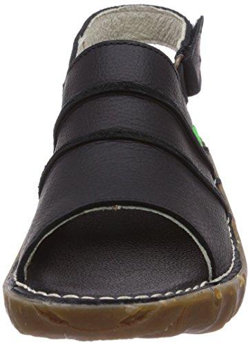 El Naturalista Yggdrasil - sandalias abiertas de cuero mujer negro - negro