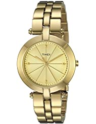 Timex Womens TW2P79200AB City Collection Analog Display Quartz Gold Watch