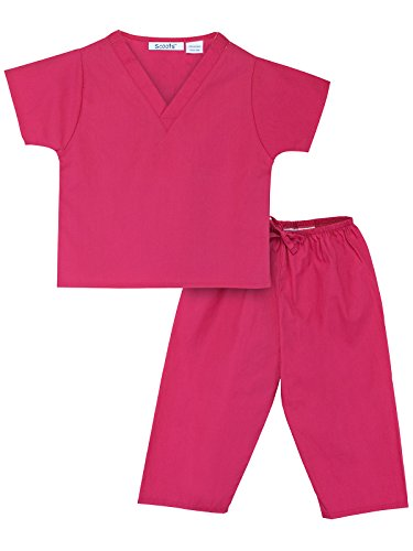 Scoots Baby Little Girls' Scrubs, Hot Pink, 4T ()