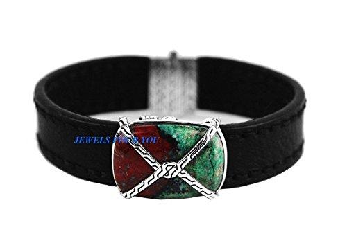 John Hardy Silver Chain Bracelet (JOHN HARDY ST.SILVER KNOT CHAIN BRACELET LEATHER CUPRITE ON TURQUOISE NEW # 12B)