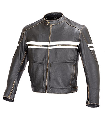 Mens Leather Racing Jacket - 1