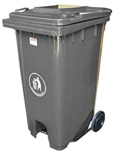 Brooks Waste Bin 240 Liters With Pedal Color Grey