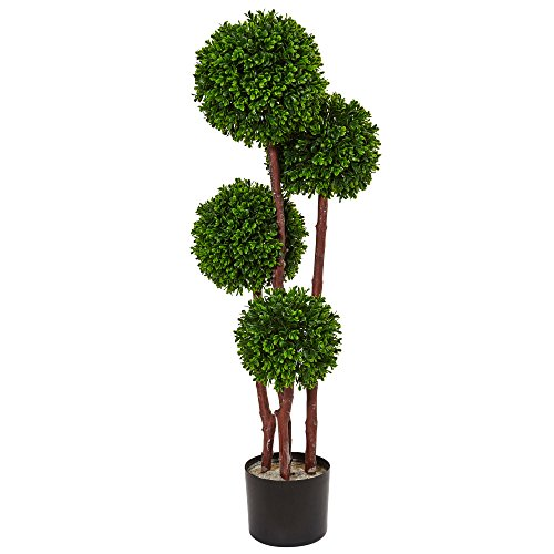 Topiary Tall (Nearly Natural Boxwood Topiary Artificial Tree UV Resistant, Green)