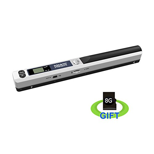 MSRM Wand Portable Document & Image Scanner/USB Mobile Scanner Include 8G Micro SD Card and Battery [Sliver]