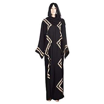 Abuhaliqa Black Formal Abaya For Women