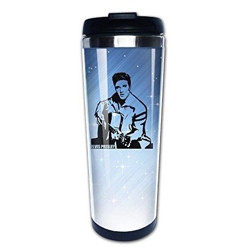 [Boomy Cool Elvis Presley Guitar Stainless Steel Coffee Mug For Indoor & Outdoor Office School Gym] (Vinyl Rock Star Costumes)