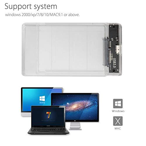 Amazon.com: Caja de disco duro SATA USB 3.0 HDD de 2,5 ...