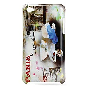 Protective Polycarbonate Hard Case for iTouch 4 (Paris Motorcycle)