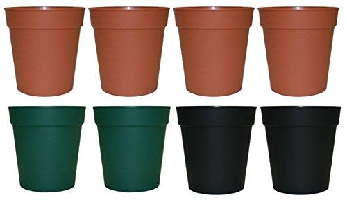 black flower pot 8 - 3