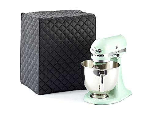 Covermates - Mixer Cover - 14W x 9D x 14H - Quilted Diamond Collection - 2 YR Warranty - Dust Protection - Washable - Black ()