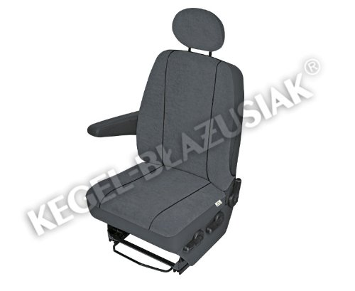 ZentimeX Z924605 Sitzbez/üge Fahrersitz Einzelsitz Armlehne rechts Stoff dunkel grau