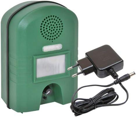 VOSS.SONIC 2800 Repelente ahuyentador de Animales con Cable Adaptador, ahuyenta Gatos, Perros, roedores, Aves y Animales Salvajes con ultrasonido y Flash Luminoso: Amazon.es: Jardín