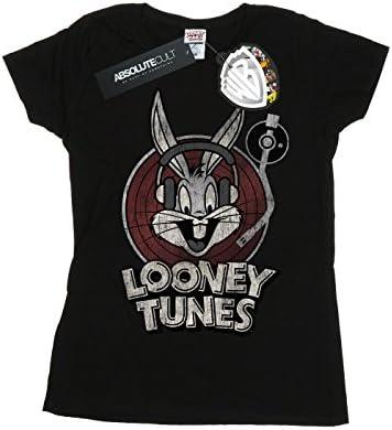 Looney Tunes damski t-shirt z logo Bugs Bunny Circle, kolor: czarny , rozmiar: m: Odzież