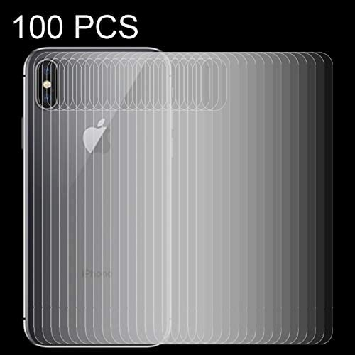 100 PCS for iPhone X 0.3mm 9H Surface Hardness 2.5D Transparent Tempered Glass Back Screen Protector Clear YINZHI Screen Protector Film