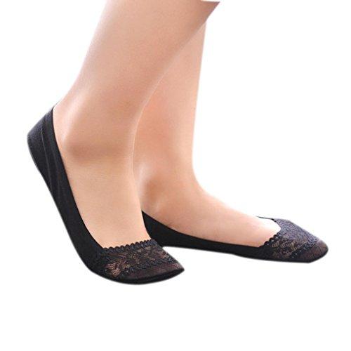 Lamolory Women's Thin Casual No Show Socks Non Slip Flat Boat Line (Black, Large) (Black Plain Shoes Jordan)