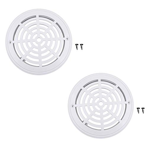 - YiMusic 2 Pieces White Pool Plastic Main Drain Cover with Screws Suit for Swimming Pools Replacement Accessary