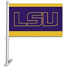NCAA Louisiana Lafayette Ragin' Cajuns Car Flag with Wall Brackett, One Size, Camo