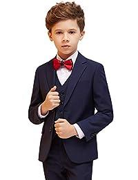ELPA ELPA Boys Suit Slim Fit Suits 5 Pics Formal Dress Wear for Wedding Tuxedo