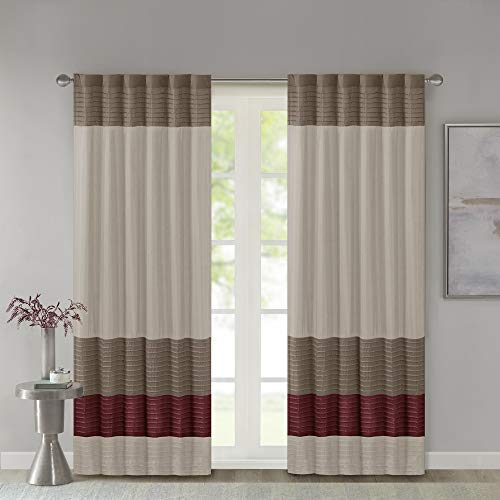 Madison Park Room-Darkening Window Treatment Curtain Solid Thermal Insulated Panel Blackout Drapes for Bedroom Livingroom and Dorm, 50x84