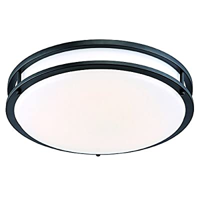 Designers Fountain EV1410L30-34 Modern 10 inch Oil Rubbed Bronze/White Low-Profile Led Ceiling Light