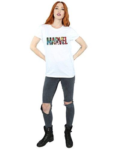 Petit Marvel Comics Blanc Logo Femme Ami Character shirt Infill Fit T qXPdXwrfxW